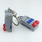 OEM customized fancy soft PVC 3D machine shape keychain key holder