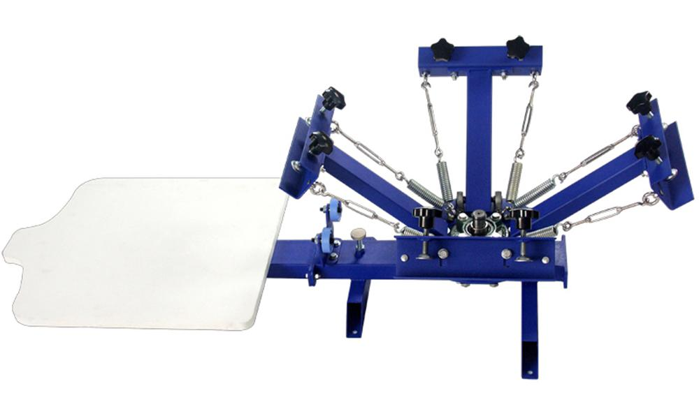 Cheap 4 color 1 station manual t shirt screen printing for Cheapest t shirt printing machine