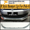 2011UP R Style Front Bumper Lip Spoiler For Polo 6