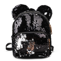 Kids Girl Sequin Backpack Shining Sequin Bag