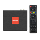 New design Magicsee C400 4k satellite receiver android dvb s2 cam dvb t2 dvb c S905D 4k Ultra HD set top box with dual band wifi