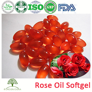 GMP Factory 100% Pure Rose Essential Hair Oil Softgel Capsules