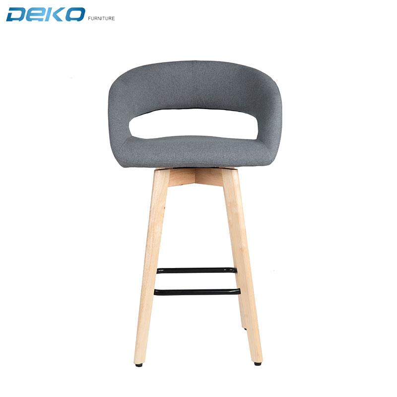 Cheap high back wooden bar chair swivel seat morder