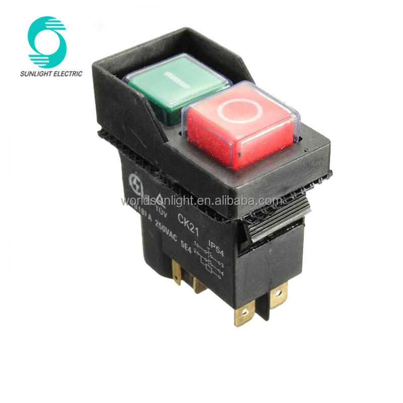 CK21B New 240V 10A 4pin Electromagnetic <strong>switch</strong> For Cement Concrete Mixers