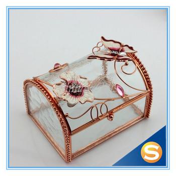 Wedding Gifts Metal Clear Glass Jewelry Box Trinket Box Buy