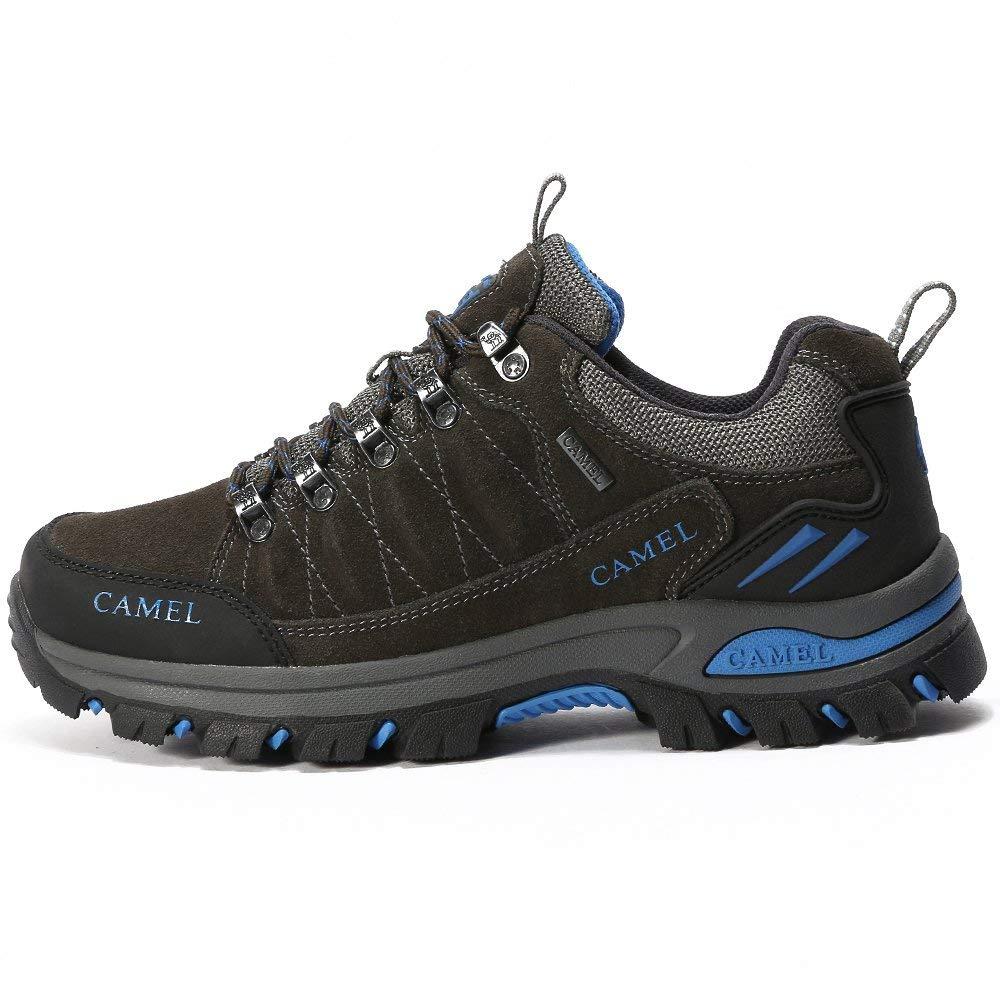 CAMEL CROWN Hiking Shoes Men Trekking Shoe Low Top Outdoor Walking Waterproof Leather Trail Sneakers