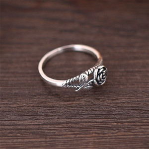 Lingsai 2019 hot selling wholesale flower silver ring designs for girl women jewelry