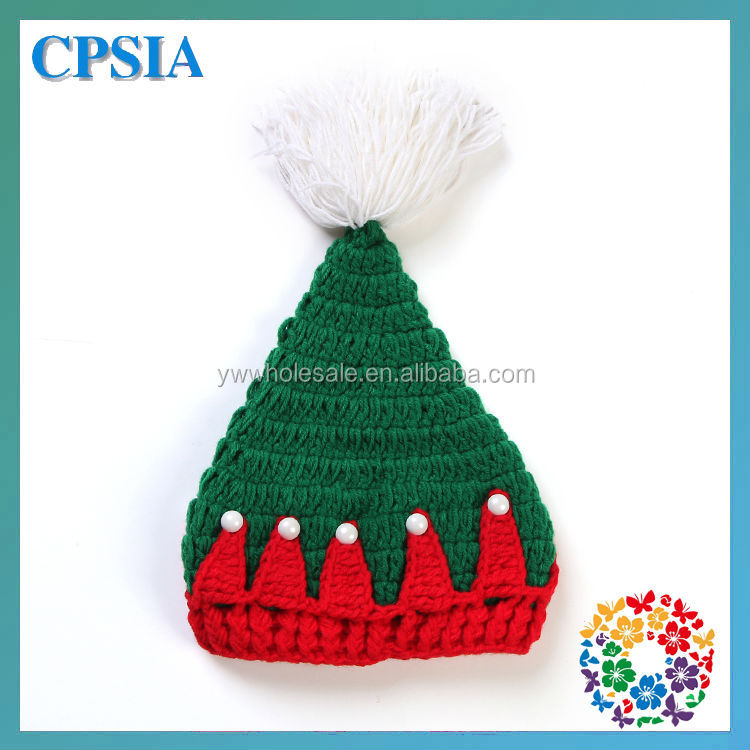 Unique Christmas Hats For Newborn Baby Green & Red Wool Knit Hats ...
