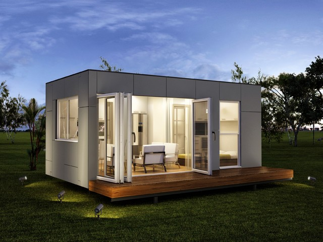 20ft shipping container glass house prefab modern export - Buy prefab shipping container homes ...