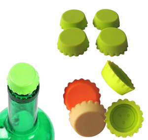 Cheap price customized logo silicone wine bottle stopper beer caps
