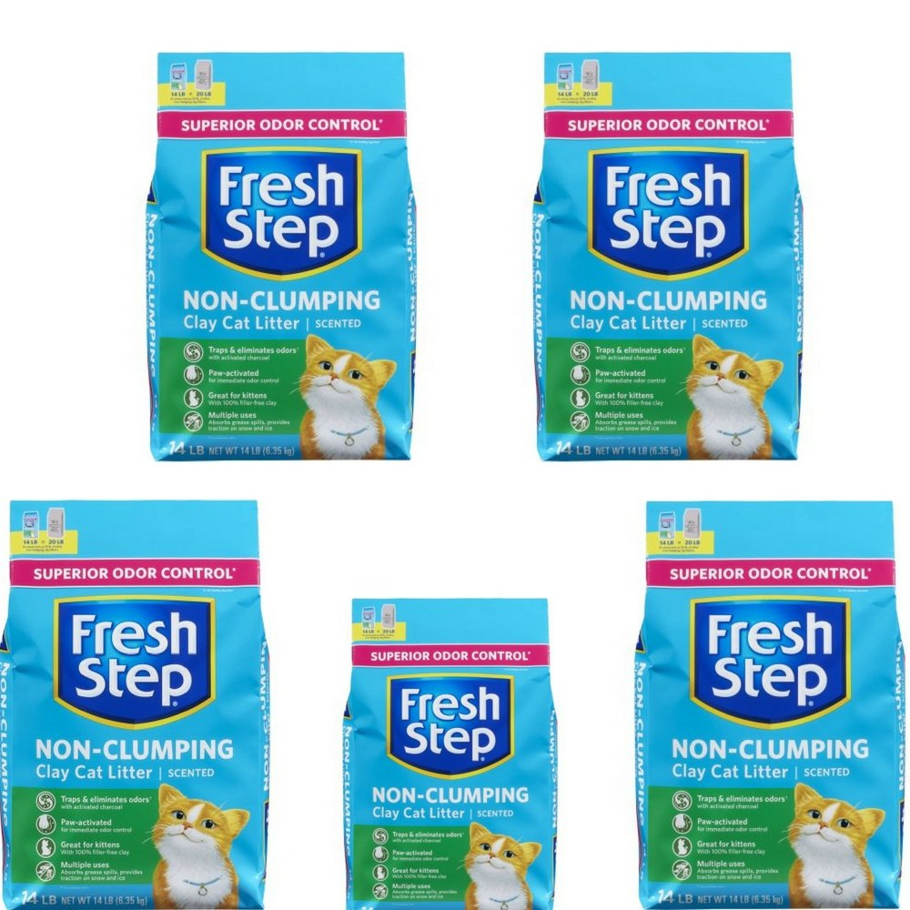 Fresh Step Non Clumping Clay Cat Litter,Scented,14 lbs 5