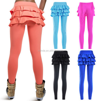 002208618 Hot Selling Red Blue Black False Two-piece Pant Legging with skirt Women s  Fashion Leggings