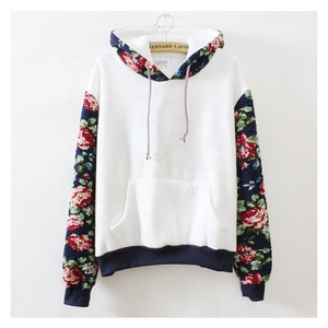 ec0677dc670 Free Shipping to USA. Wholesale Women Vintage Floral Printed Hooded Hoodie  Long Sleeve Pocket Hoodie