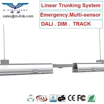 Hot Sale New Dali Dimmable Suspended Etl Tube Liner System Aluminum Line 30 Degree Fixture Led Batten Continuous Linear Light