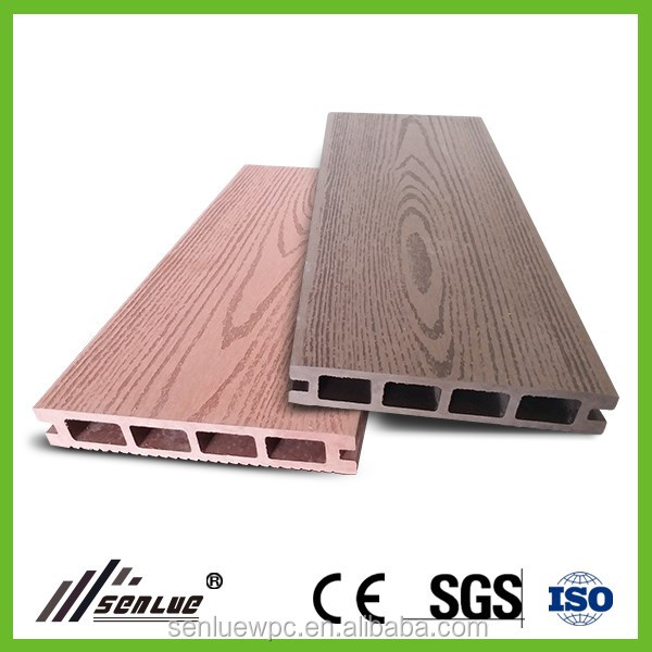 Outdoor WPC Wood Plastic Composite Hollow Decking - Single surfaced/Embossing/Wood Grain
