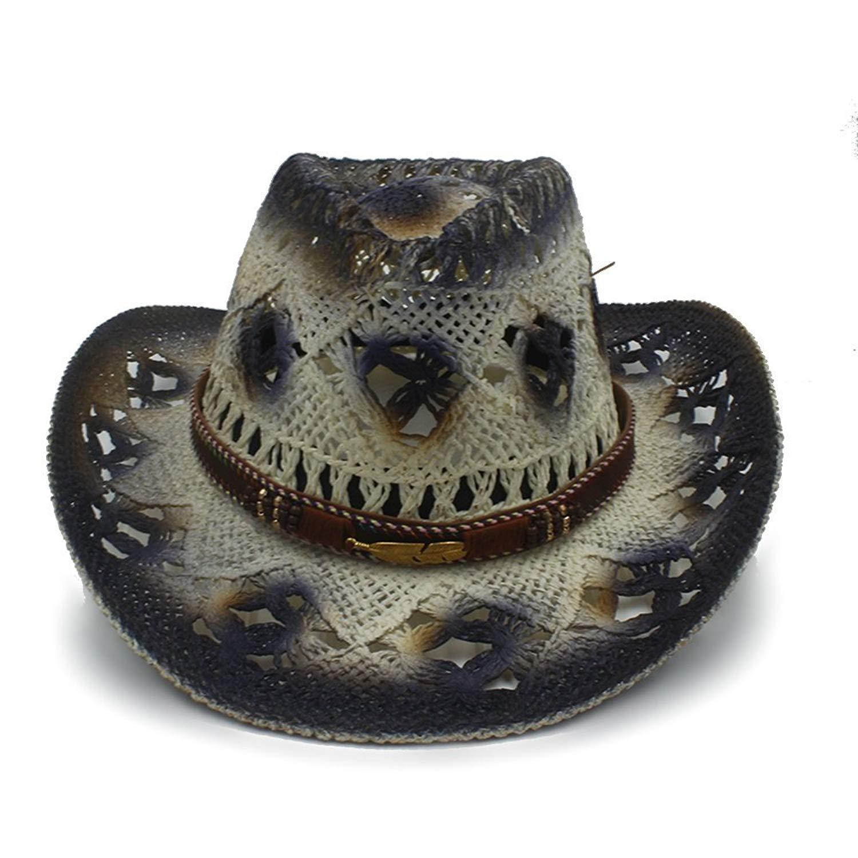 Get Quotations · Xiaojuan-us Womens Mens Handwork Straw Western Sombrero Cowboy  Hats 57a2dd604308