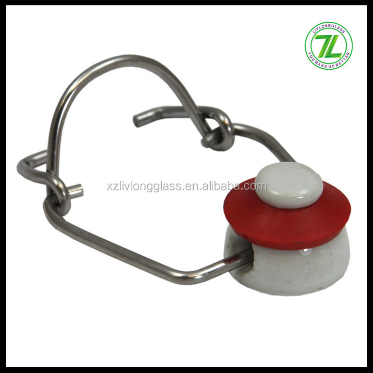 ceramic material swing top flip top cap