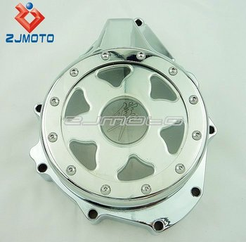 Chrome Window Billet Aluminum Clear Stator Engine Cover With