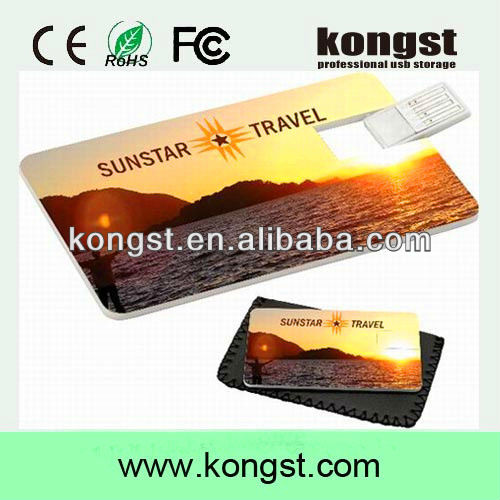 high-definition custom print usb card, high resolution printing Credit Card USB Flash Drive