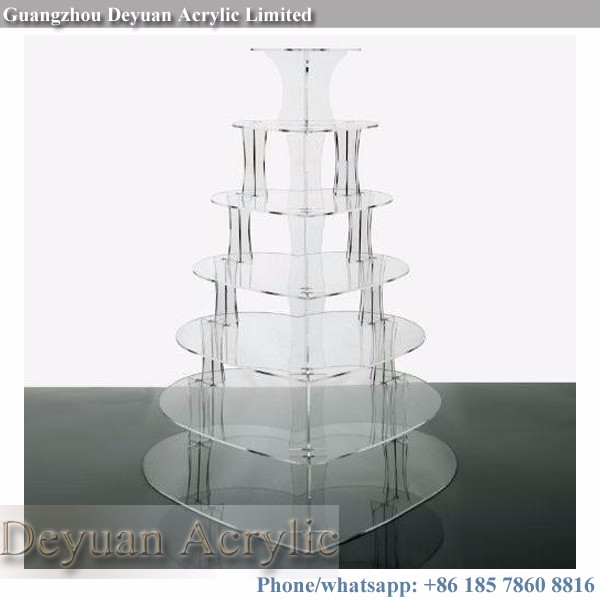 Crystal acrylic cake stand glass custom logo accept
