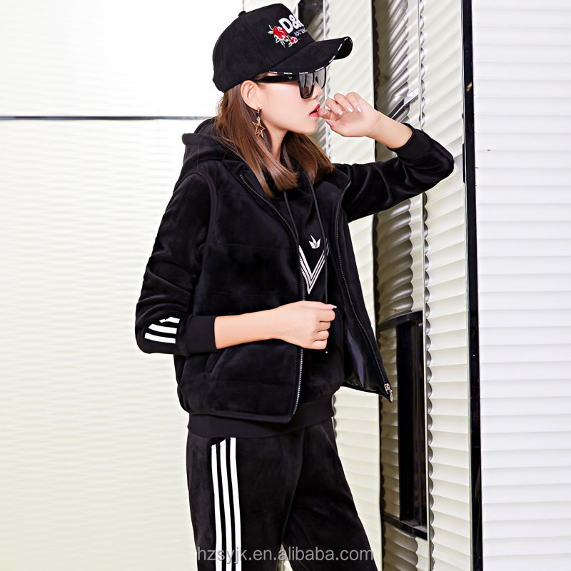 High Quality Wholesale New Design Women Red Sportswear Psg Tracksuit Set фото