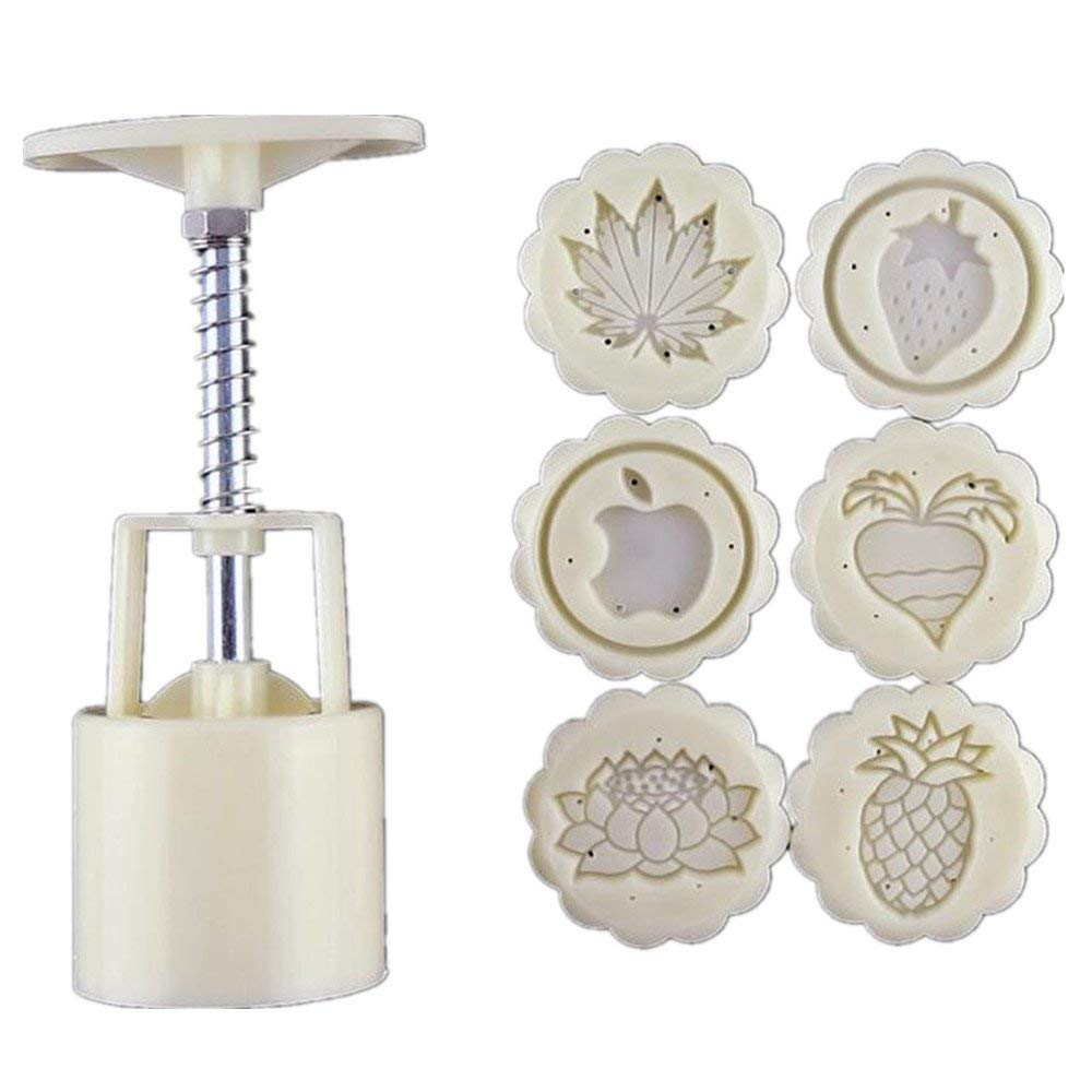 Moon Cake Mooncake Decoration Mould Hand-Pressure ABS Material Moon Cake MoldBiscuit Mold 50g