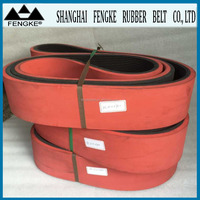 Multi Ribbed Belts Coated With Red Rubber