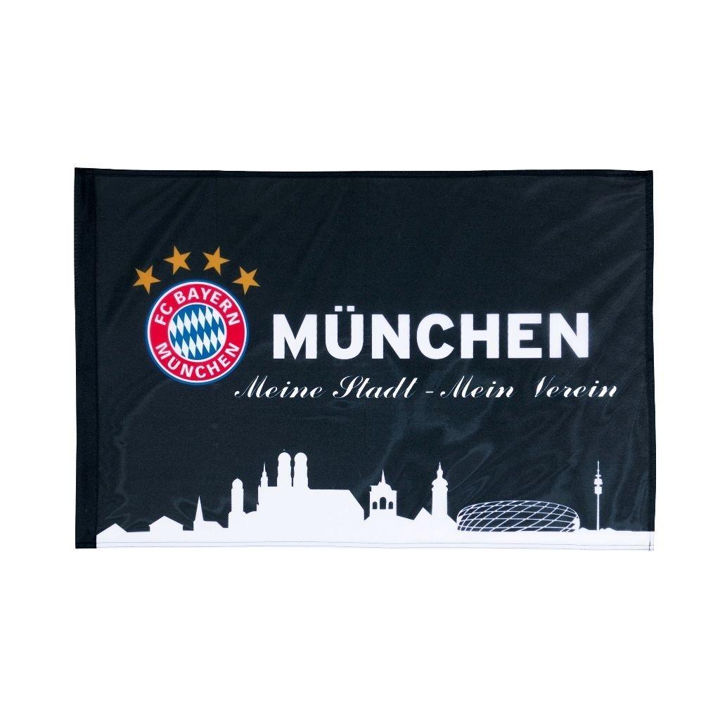 Flag black 90x60 cm FC Bayern Munich / MÜNCHEN / drapeau / bandera / Fahne / Flagge / Banner