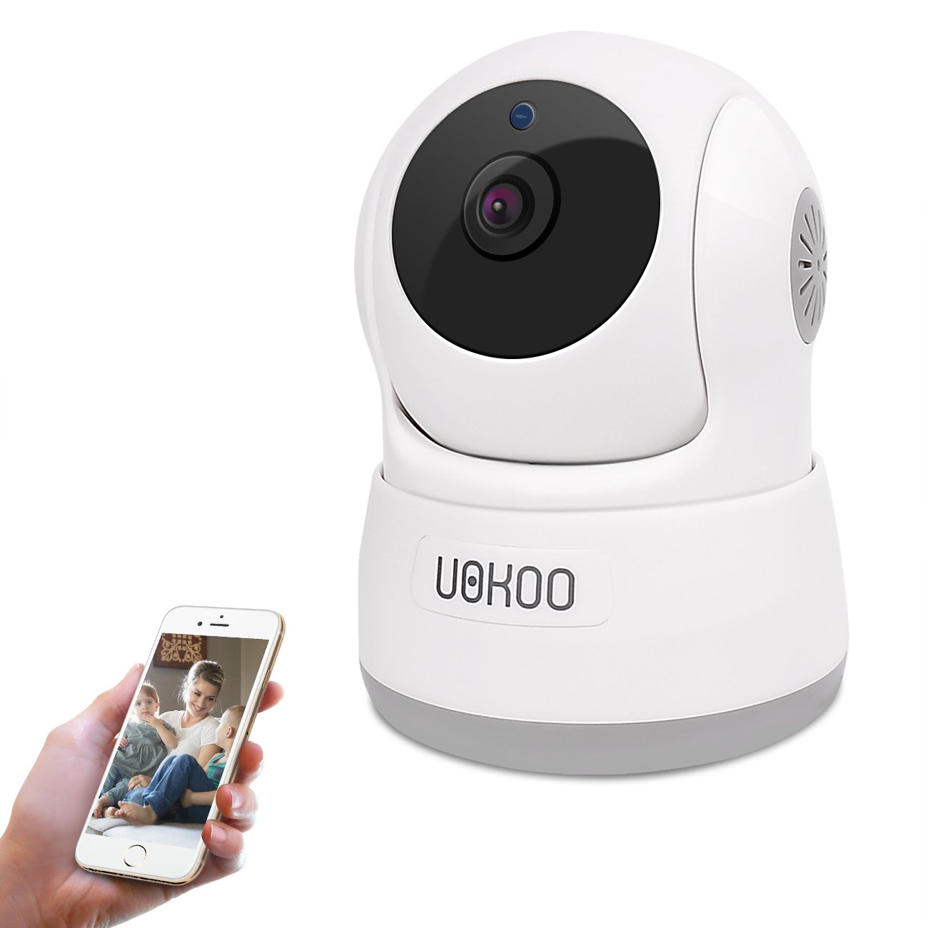 Wireless Security Camera, UOKOO 1280x720p HD Home WiFi Wireless Security Surveillance Camera Wireless IP Camera with Pan/Tilt/Two Way Audio, Night Vision Wireless Camera, Nanny Cam
