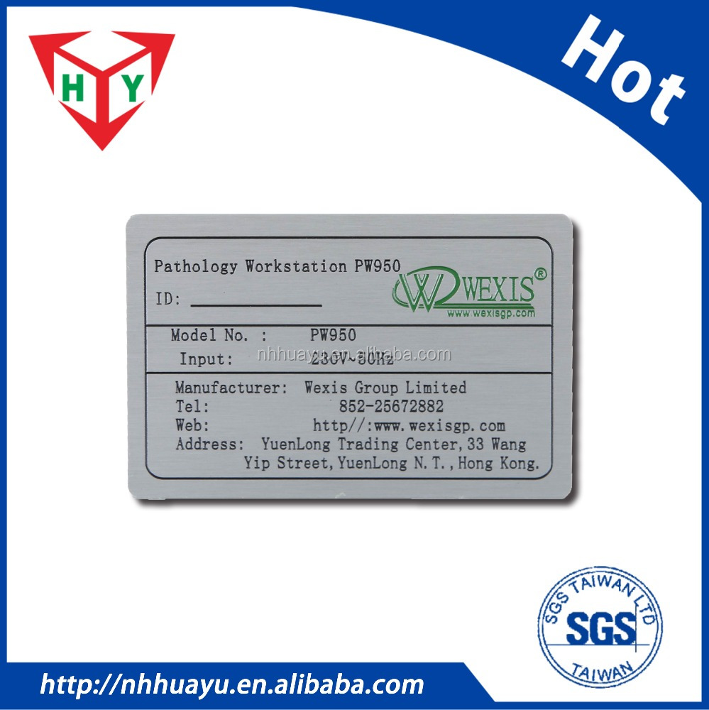 Custom High quality 0.3 ~ 2mm Metal nameplate / Metal <strong>logo</strong> / aluminum name tag