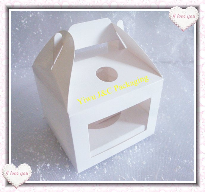 100pcs Hot Sales 10x10 Single Cupcake Boxes with Handle ...
