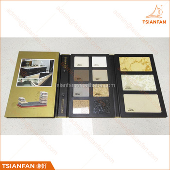 Marble & Granite tile custom sample book stone sample brochure