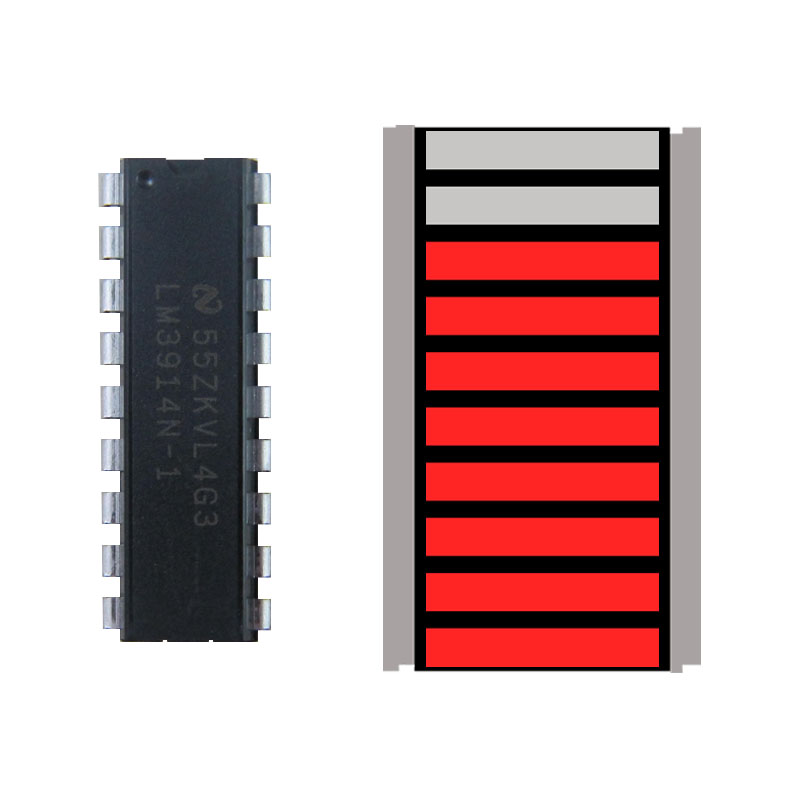 Taidacent Red Green Orange Color Led Driver Circuit Lm3914 Smd 10 Segment Led Light Bar Graph Indicator