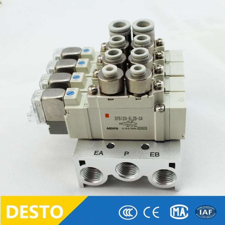 Hydraulics, Pneumatics, Pumps & Plumbing Smc Sy5260-5lou-c8-q 5 Port Solenoid Valve Air Compressors & Blowers