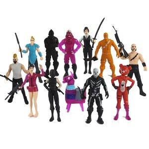 Hot sale Fortnite Liama pop figure, 12pcs/set Fort Night Epic Game Doll Fortnite PVC Action Figure for Gifts