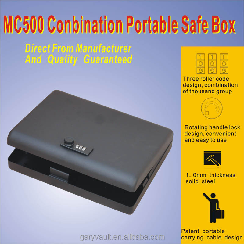 Wholesale - MC500 micro Safe combination mini car gun pistol portable security storage steel safe box : file safe box - Aboutintivar.Com