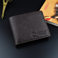 Wholesale Tianqin Fashion Bifold PU Leather Mens Short Purse Wallet