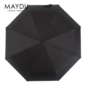 Chinese supplier golf custom auto fully 3 folding umbrella with multi color changing