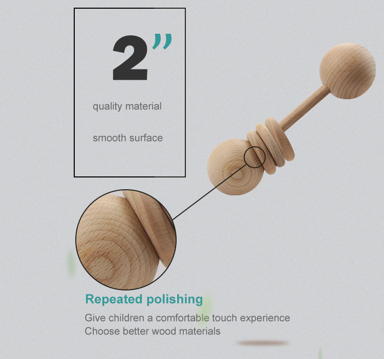 factory direct inspiring wooden baby rattle