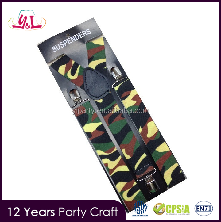 New Fashion 2016 Personalized Clip Custom Camouflage Suspenders For Girls