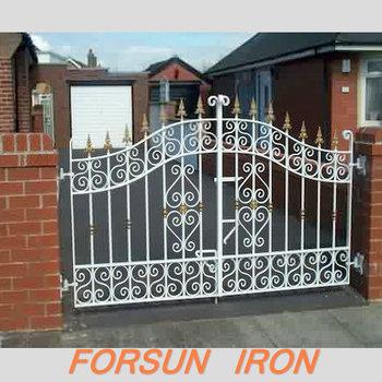 Main House Iron Gate Designs Used Wrought Iron Door Gates