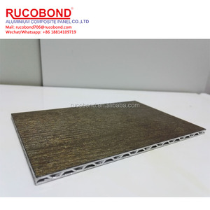 mirror wood finish pe aluminum core panel for construction cladding