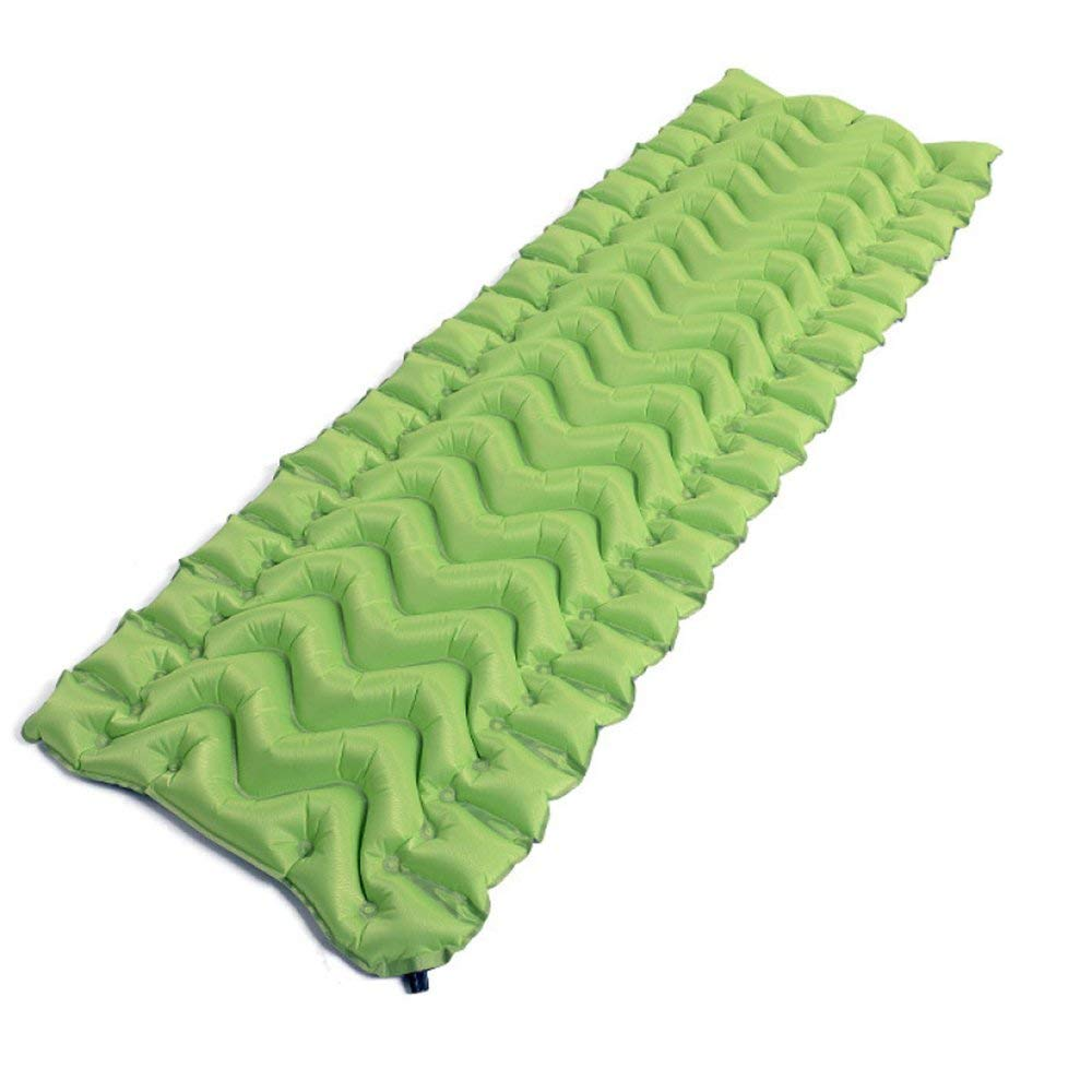 sleeping pad Outdoor Automatic Inflatable Mat Moisture Single Lunch Break Pad Thickening Travel Camping, Green