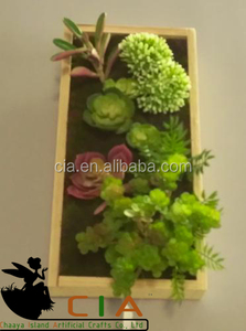 PVC material artificial plants wall art