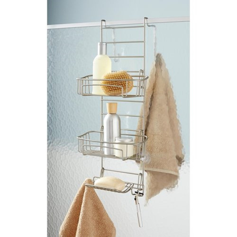 Buy Hawthorne Place Shower Door Caddy, Satin Nickel in Cheap Price ...