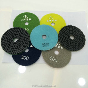 3 Step Granite floor resin bond diamonds polishing pads for concrete