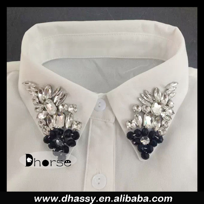 Alibaba supplier fashion jeweled fake collar neck designs