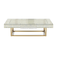 High quality low glass wood marble coffee table for sale