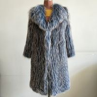 Luxury Knitted Women Knitted Real Fox Fur Coat