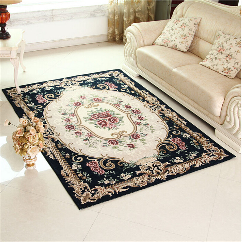 Washable Bathroom Carpet: European Pastoral Style Multifunction Rugs And Carpets